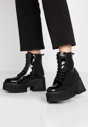 FIROZA - Platåstøvletter - black
