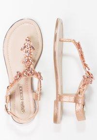 Buffalo - T-bar sandals - metallic/rose gold - 2
