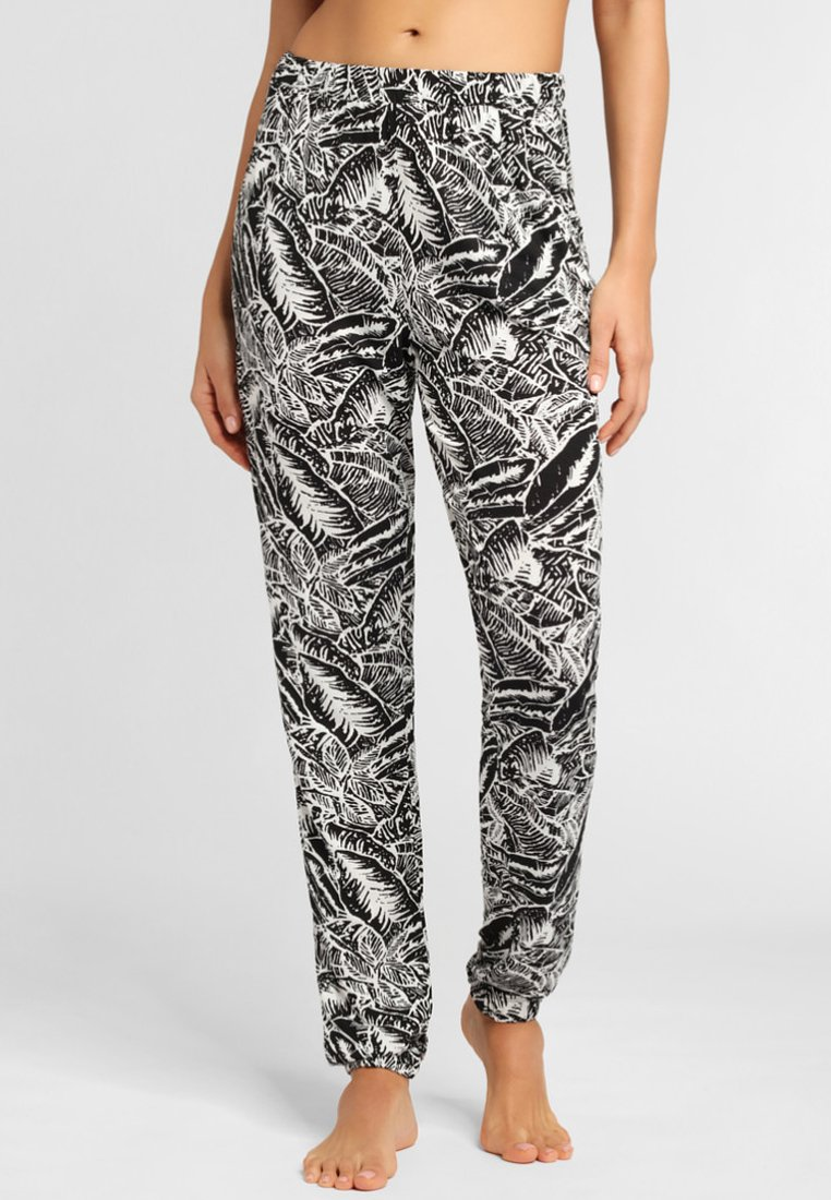 Buffalo - Trousers - black/cream