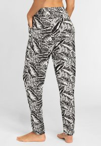 Buffalo - Trousers - black/cream - 2