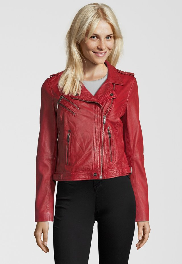 BE PROUD - Veste en cuir - red