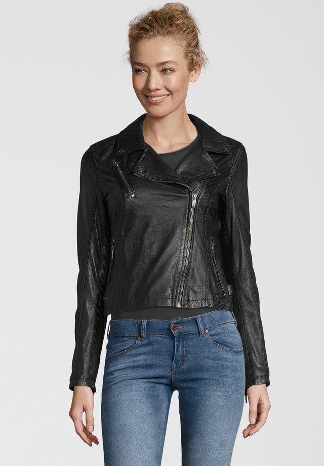 BE PRETTY - Leather jacket - black