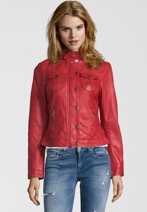 BE WONDERFUL - Leather jacket - red