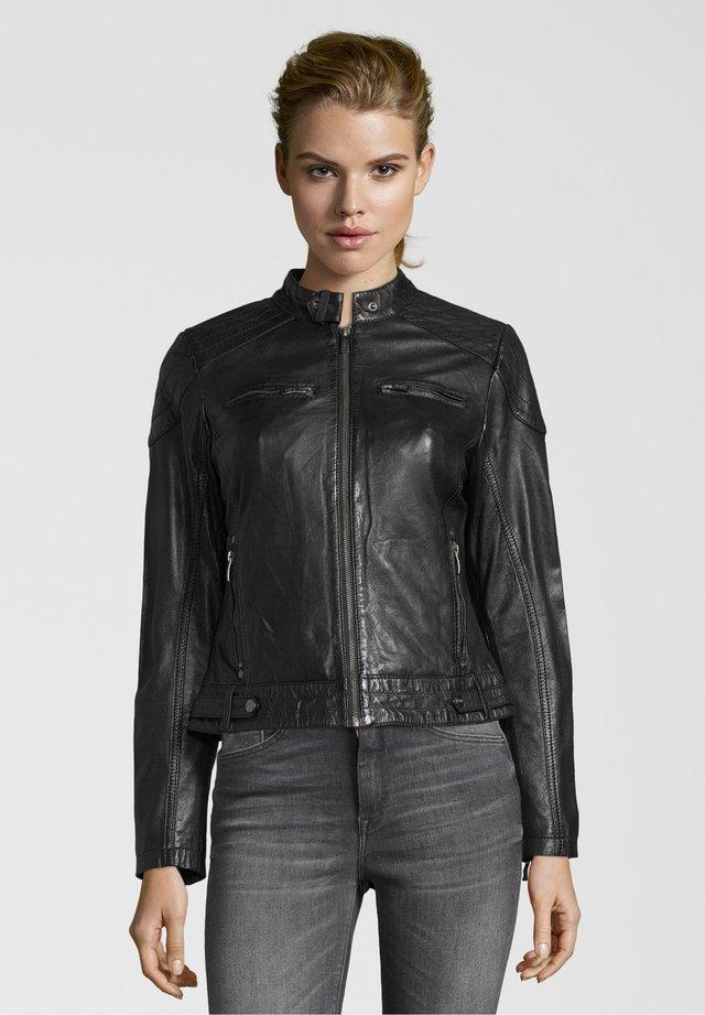 BE LOVED - Leather jacket - black