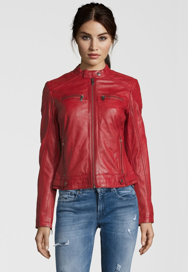 BE LOVED - Veste en cuir - red