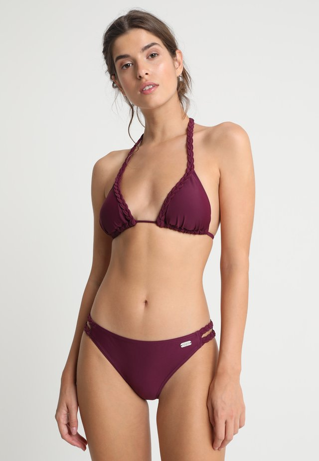 TRIANGLE SET - Bikini - bordeaux
