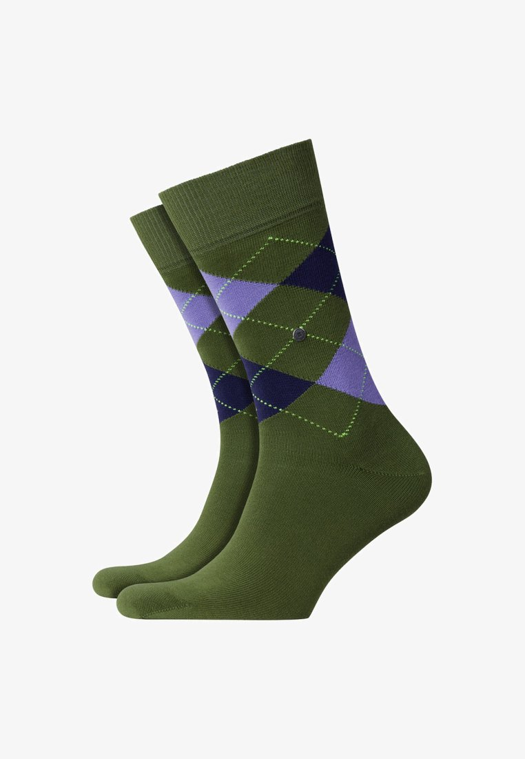 Burlington - KING  - Socks - green/purple
