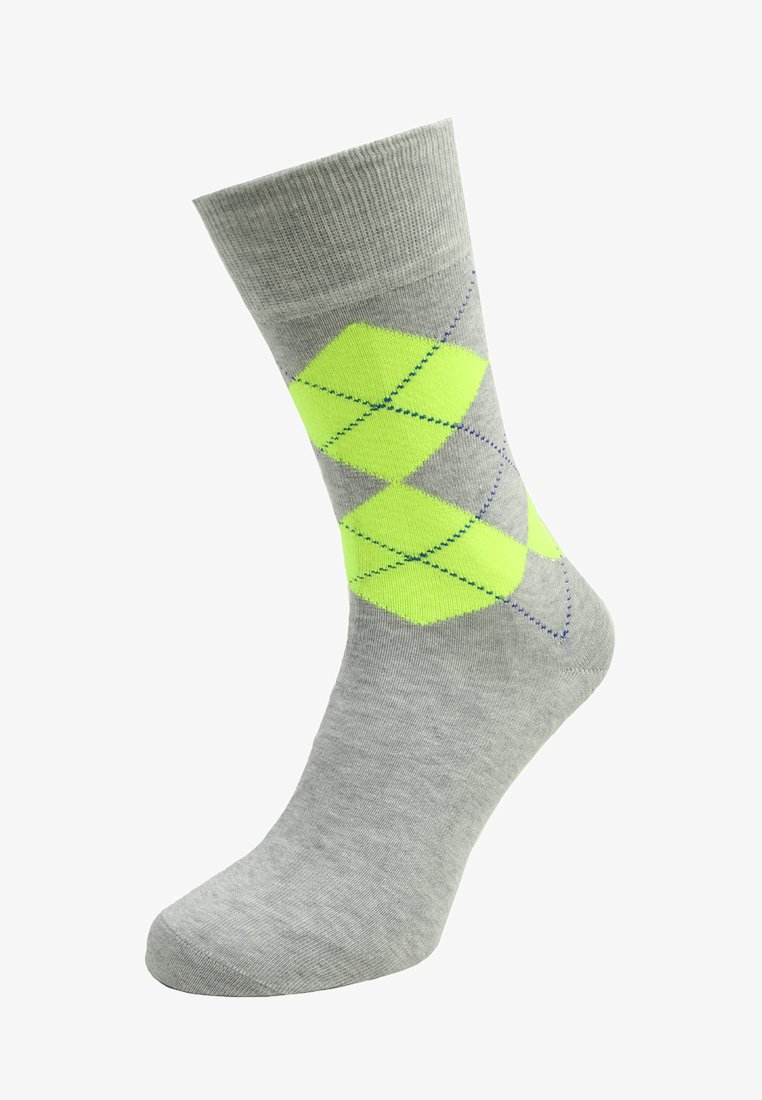 Burlington - NEON KING  - Socks - storm grey