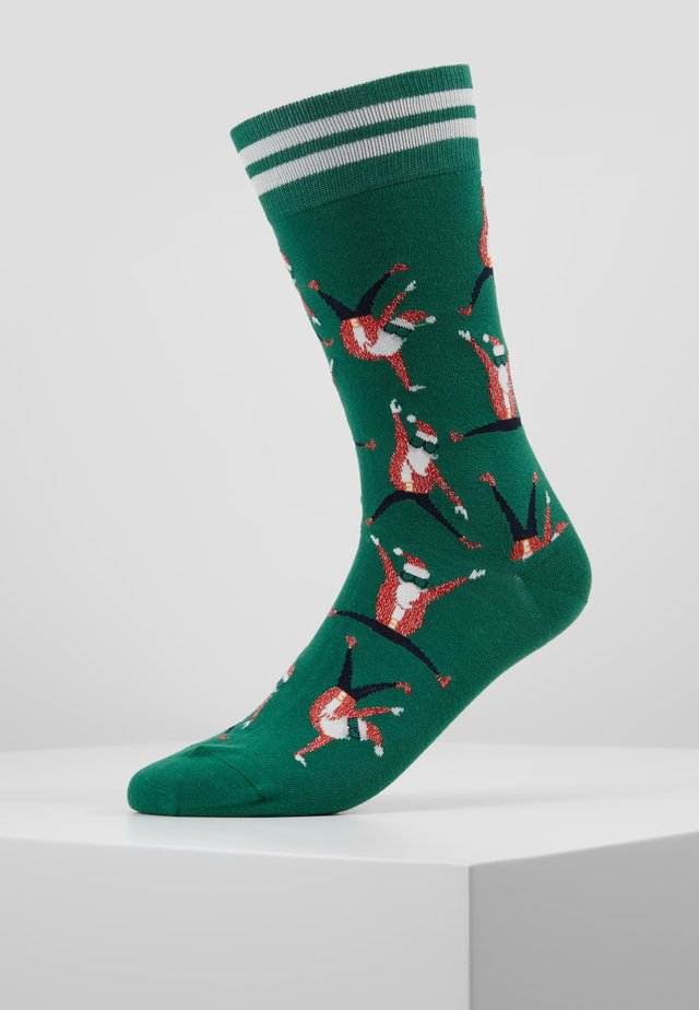 DANCING SANTA - Ponožky - green
