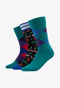 Burlington - CHRISTMAS GIFTBOX 3PACK - Socks - multi-coloured - 1