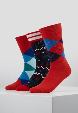 CHRISTMAS GIFTBOX 3PACK - Socks - multi-coloured