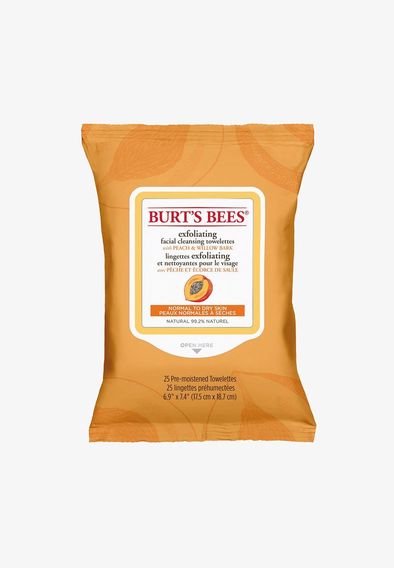 Burt's Bees - FACIAL CLEANSING TOWELETTES 25 PACK - Ansigtsrens - peach & willobark