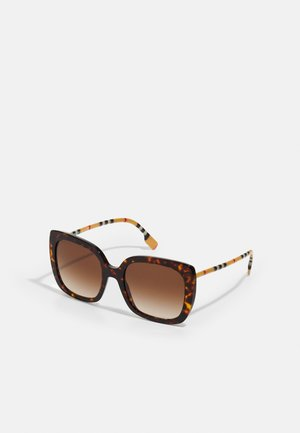 Lunettes de soleil - mottled brown/gold-coloured