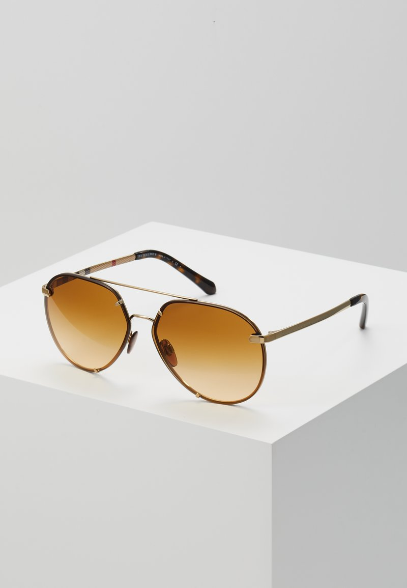 Burberry - Lunettes de soleil - light gold-coloured/light yellow/gradient ochre