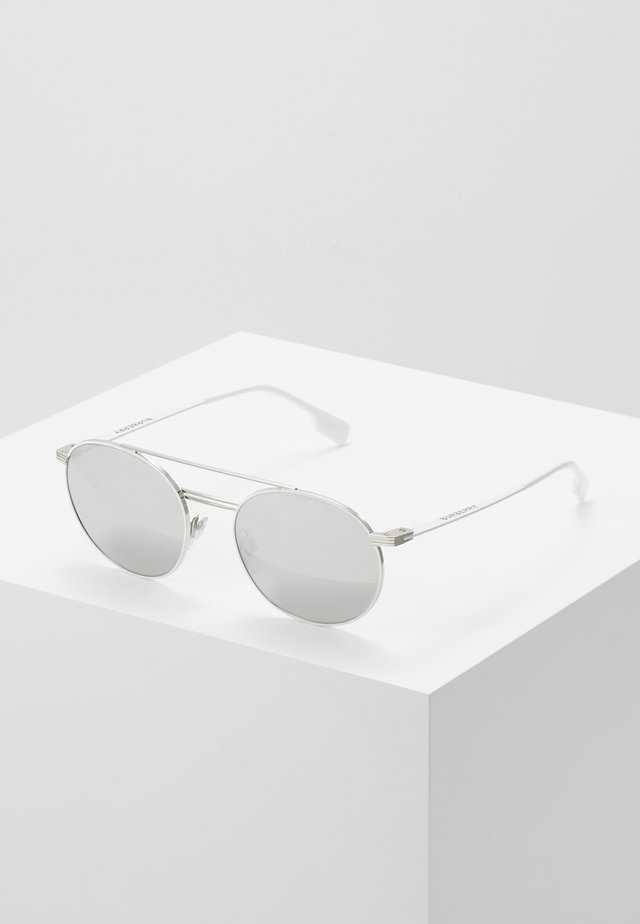 Sonnenbrille - silver-coloured/matte white