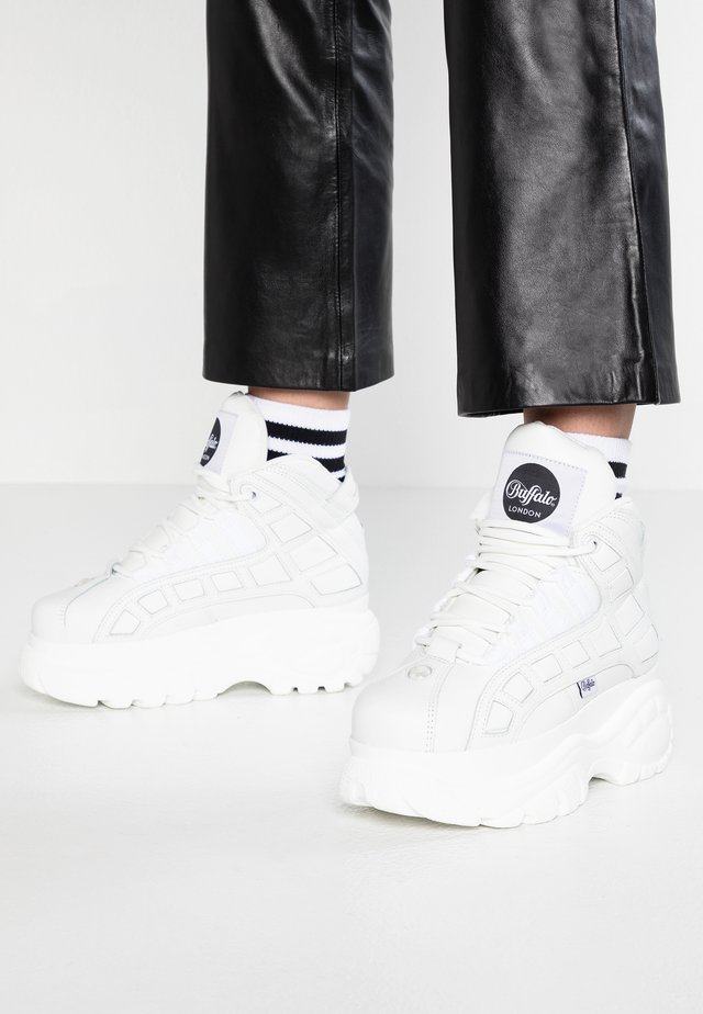 Sneakers high - blanco