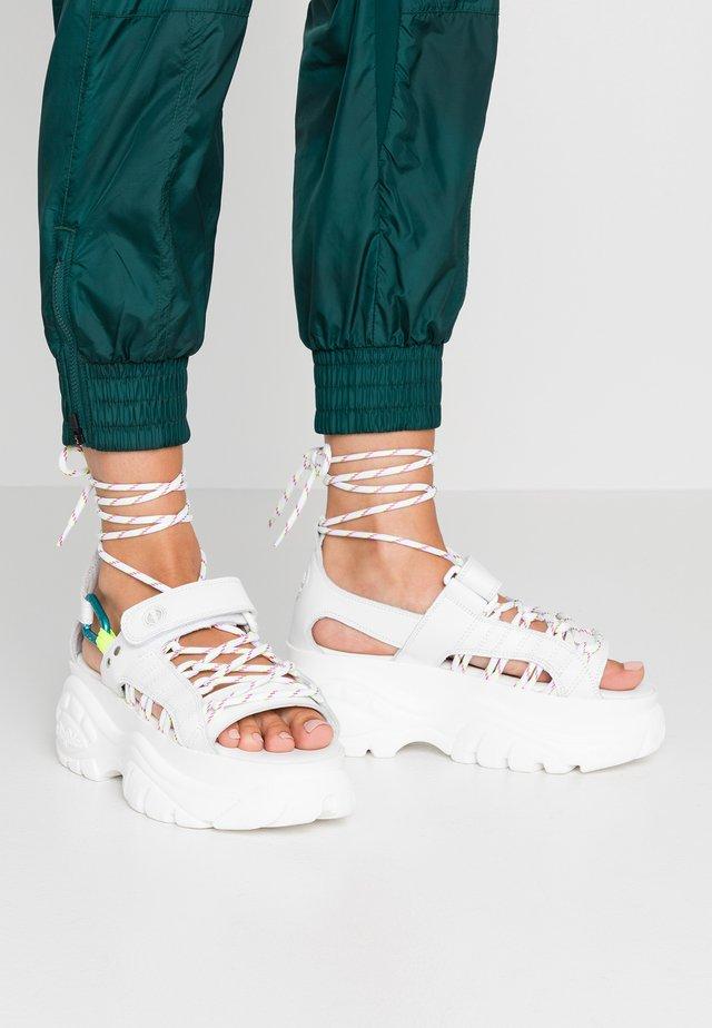 ELIN - Sandály na platformě - white