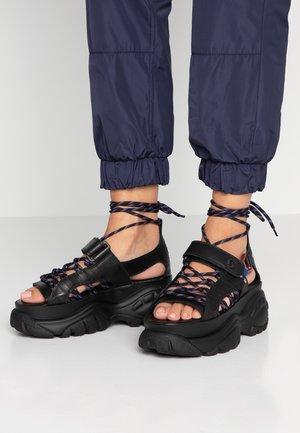 ELIN - Korkeakorkoiset sandaalit - black