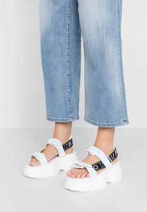 ELLA - Korkeakorkoiset sandaalit - white
