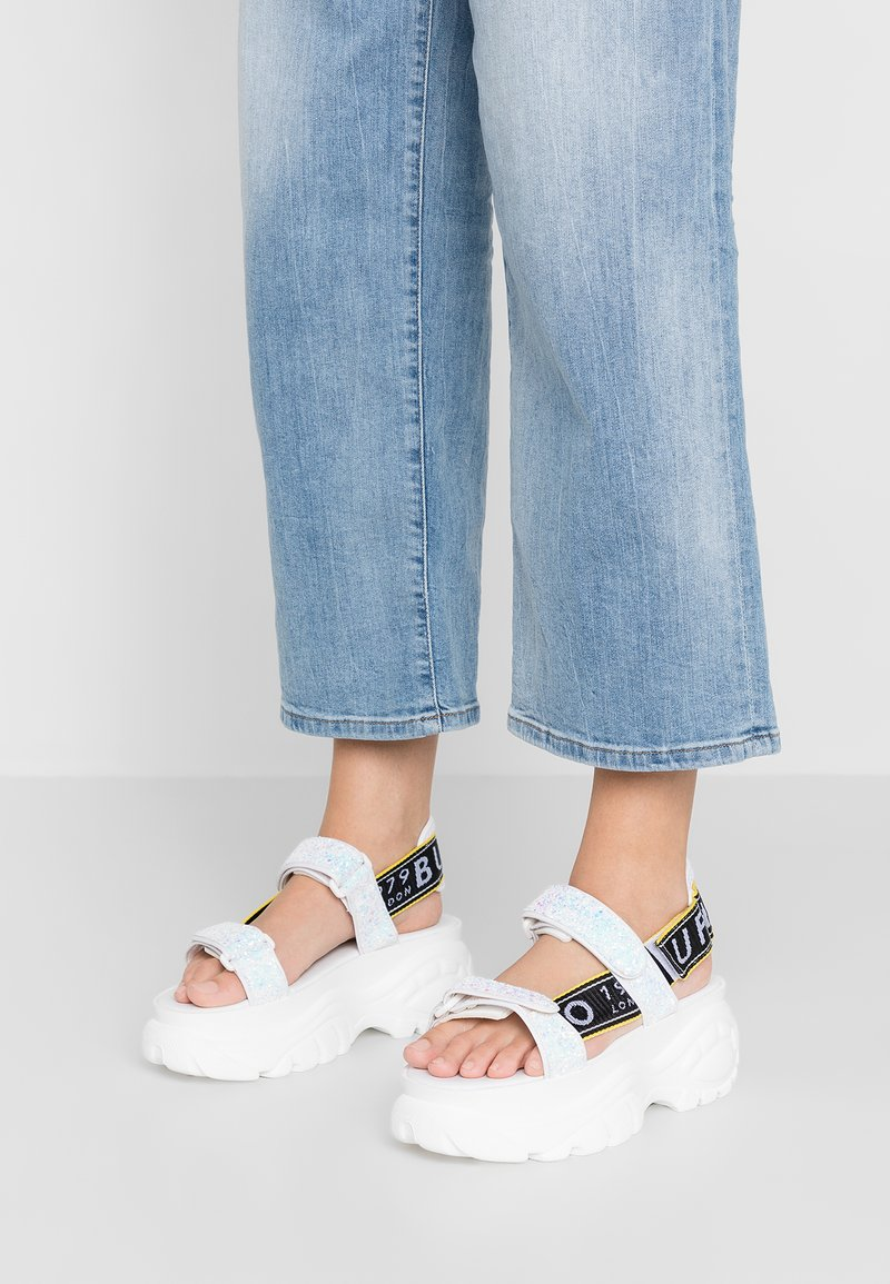 Buffalo London - ELLA - Platform sandals - white