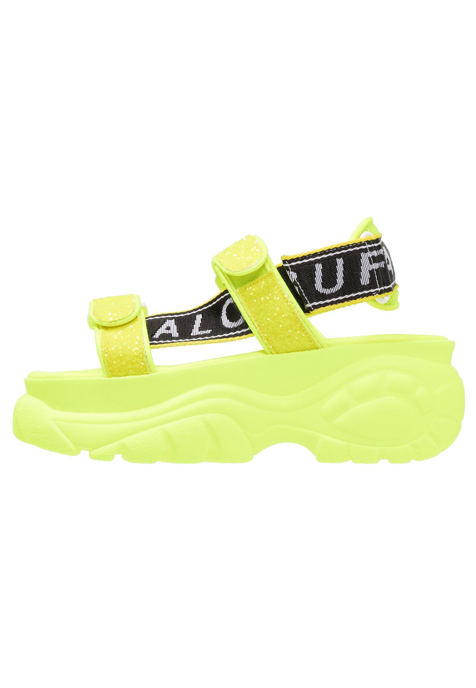 ELLA Sandalen met plateauzool neon yellow