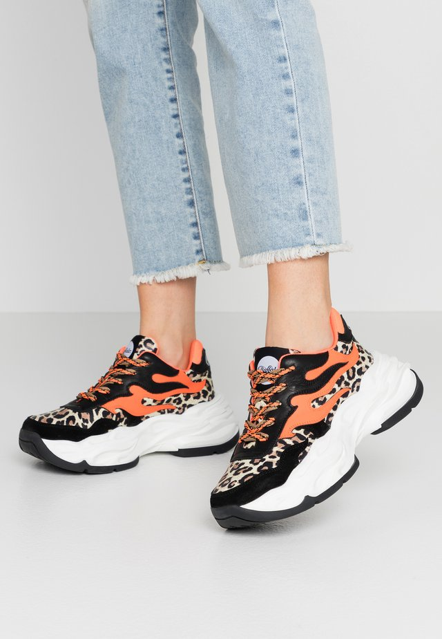 EYZA  - Sneakers basse - beige/black/neon