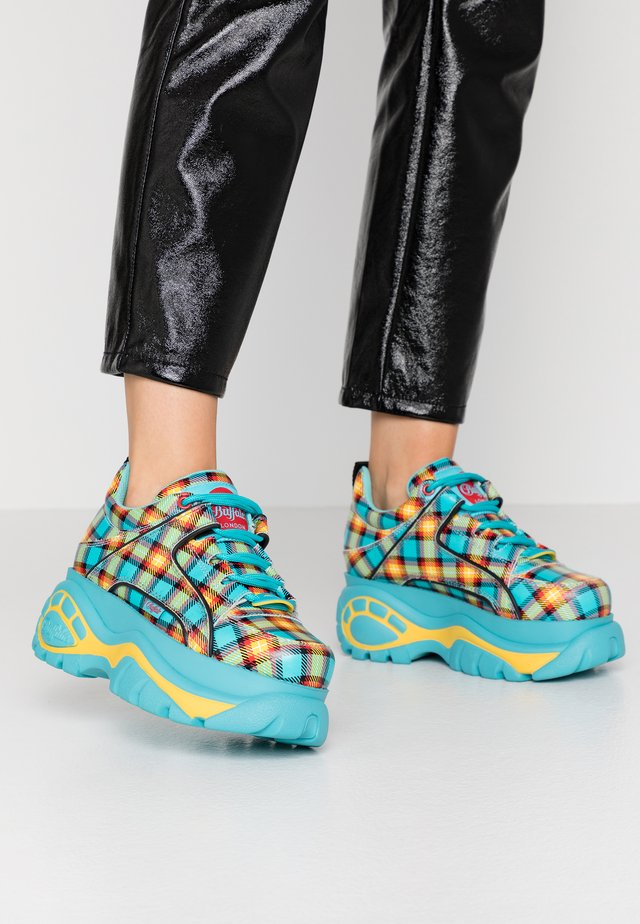 Sneakers basse - turquoise/yellow/black/red