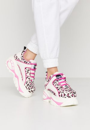 Trainers - cream/black/pink