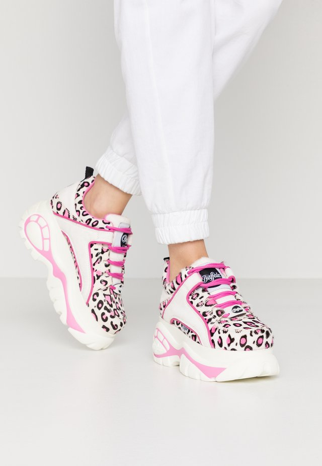 Sneakersy niskie - cream/black/pink