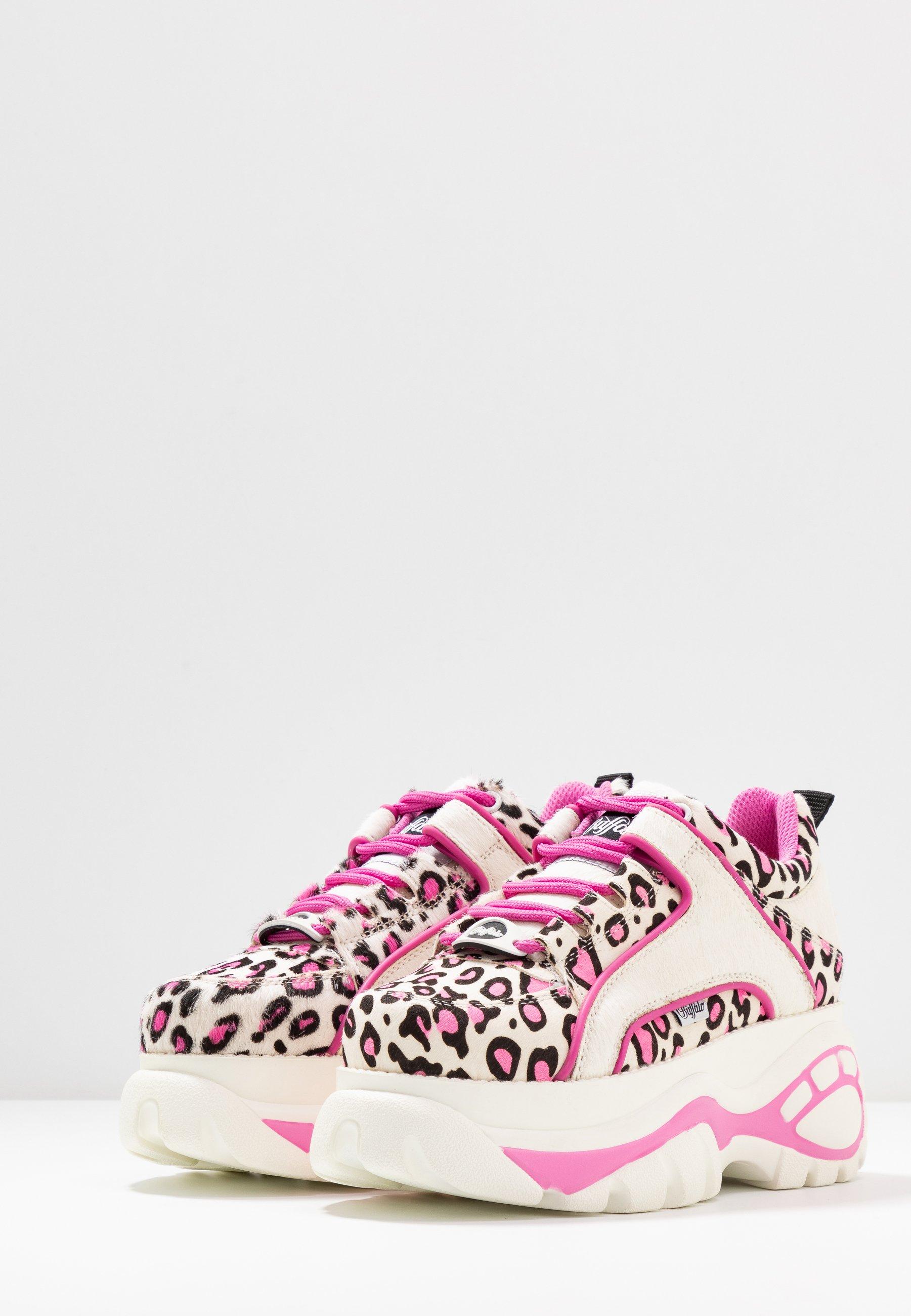 Buffalo London Sneakers basse - cream/black/pink