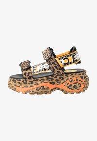 Buffalo London - ELLA - Korkeakorkoiset sandaalit - brown - 1