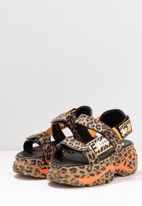 Buffalo London - ELLA - Korkeakorkoiset sandaalit - brown - 4