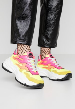 EYZA  - Joggesko - neon yellow/orange/pink