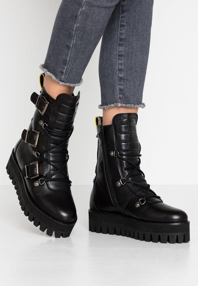 GESSICA - Cowboy/biker ankle boot - black