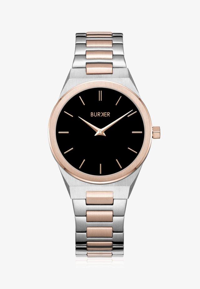 Uhr - black rose gold silver