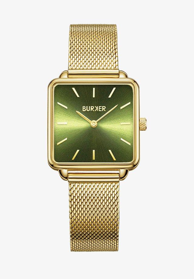 Uhr - gold green