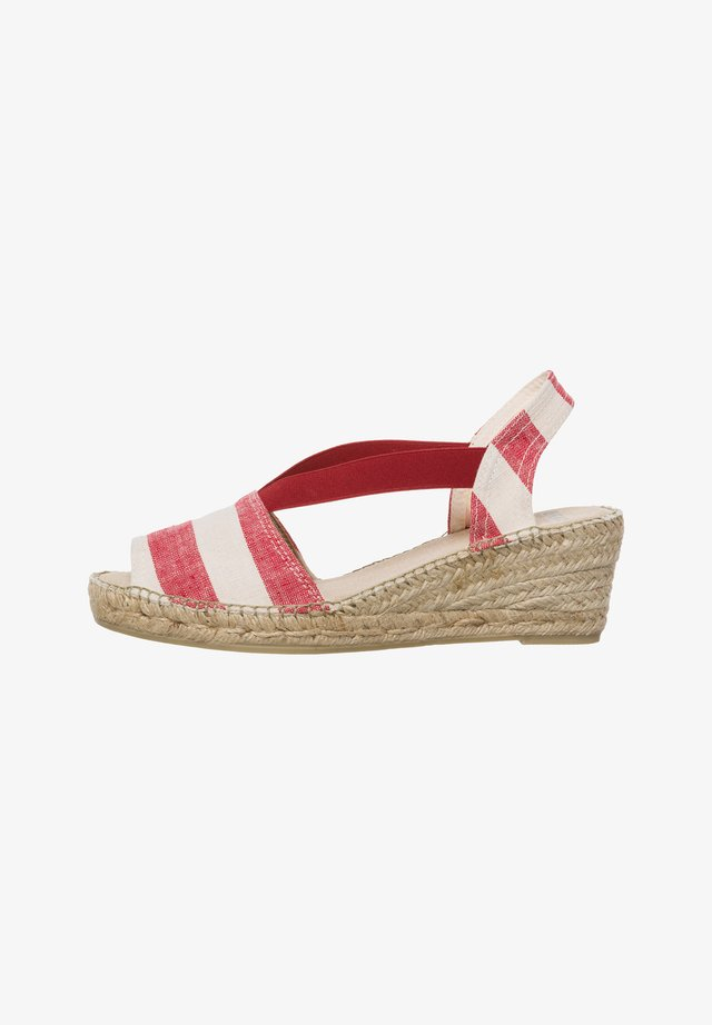 STYLE CAROLINA - Espadrilles - red-stripe