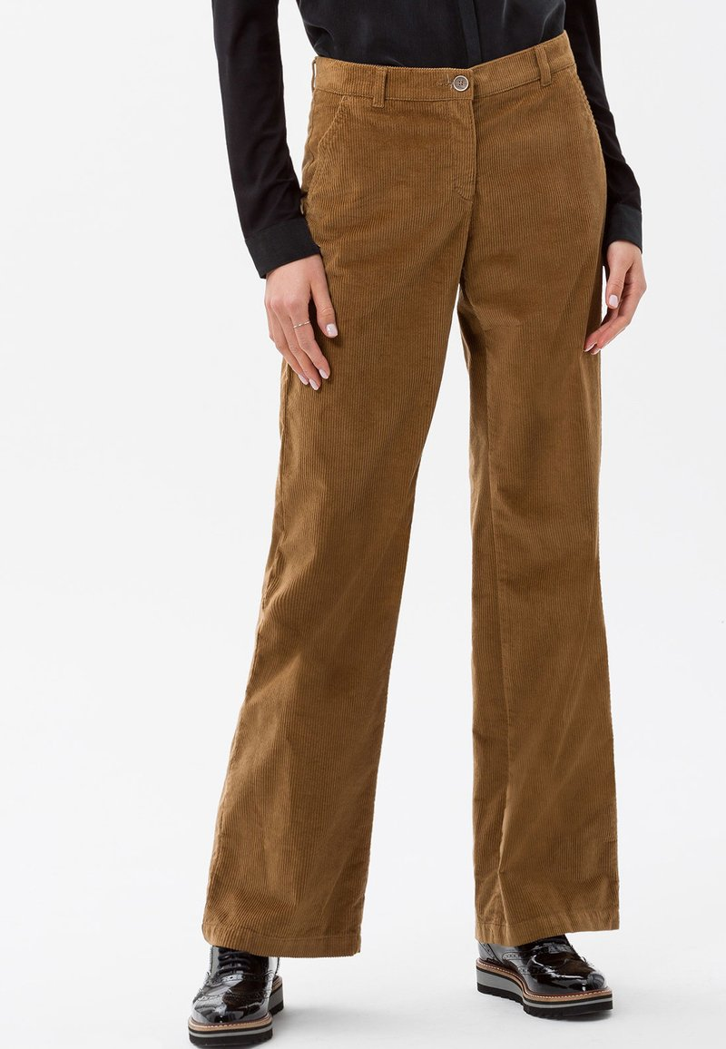 BRAX - STYLE MAINE - Trousers - cognac