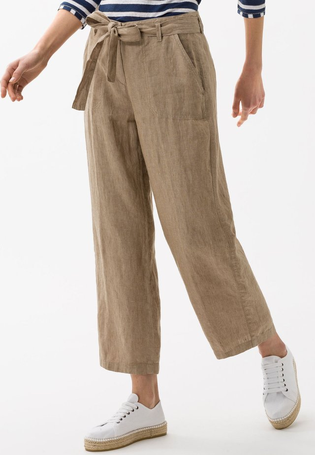 STYLE MAINE - Trousers - toffee