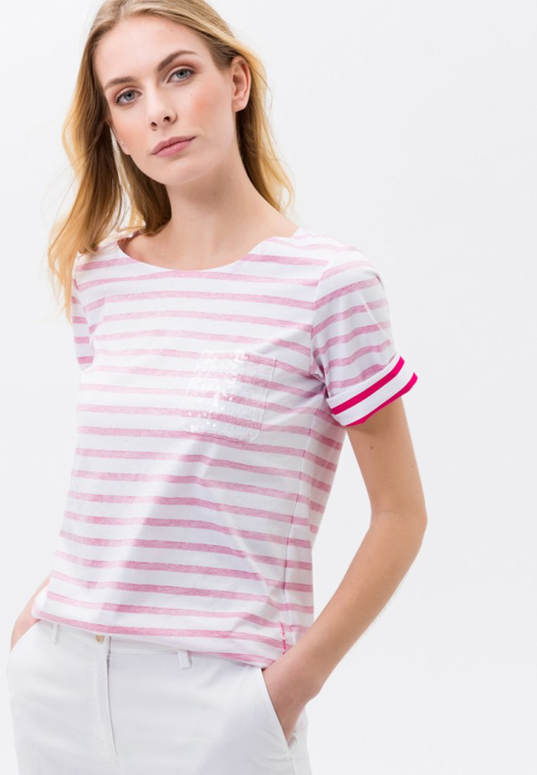 BRAX - COLLETTE - T-Shirt print - pink