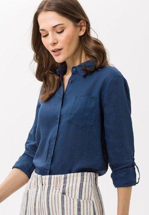 VICTORIA - Button-down blouse - indigo