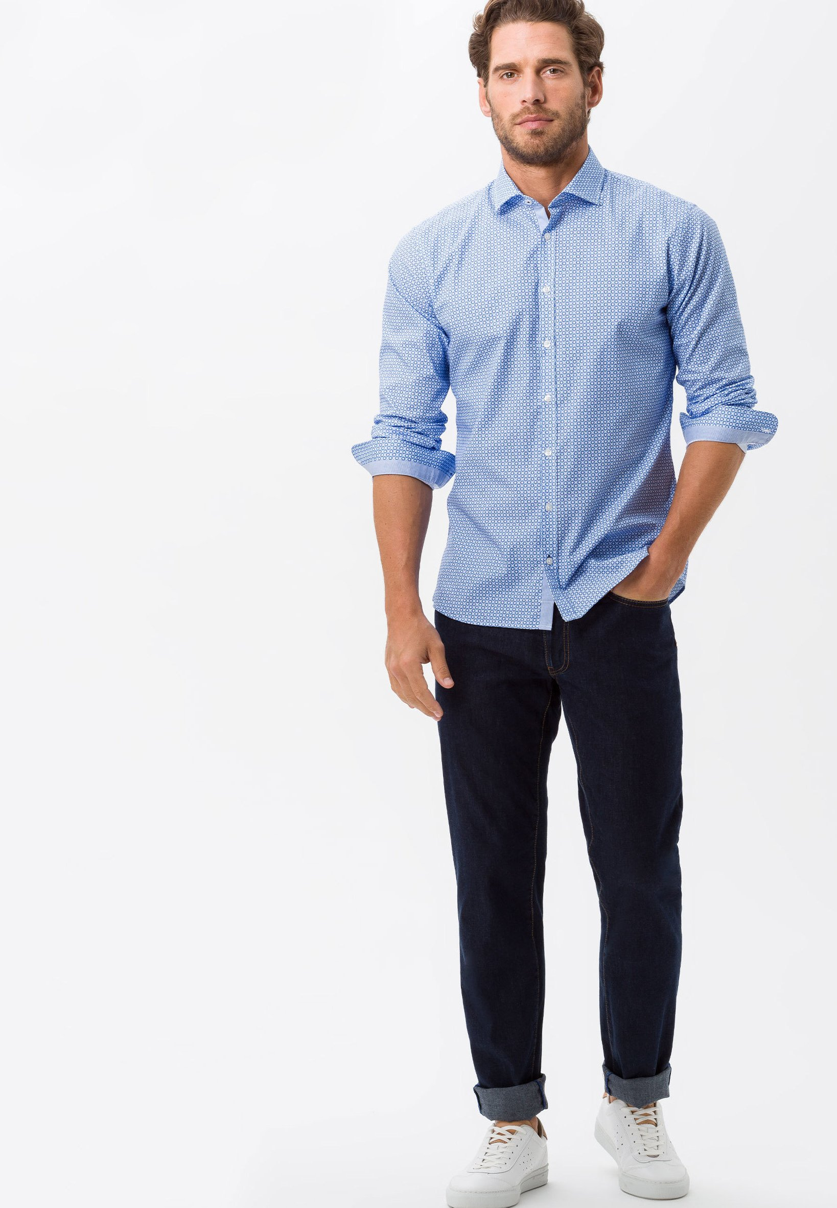 BRAX STYLE HAROLD - Shirt - blue