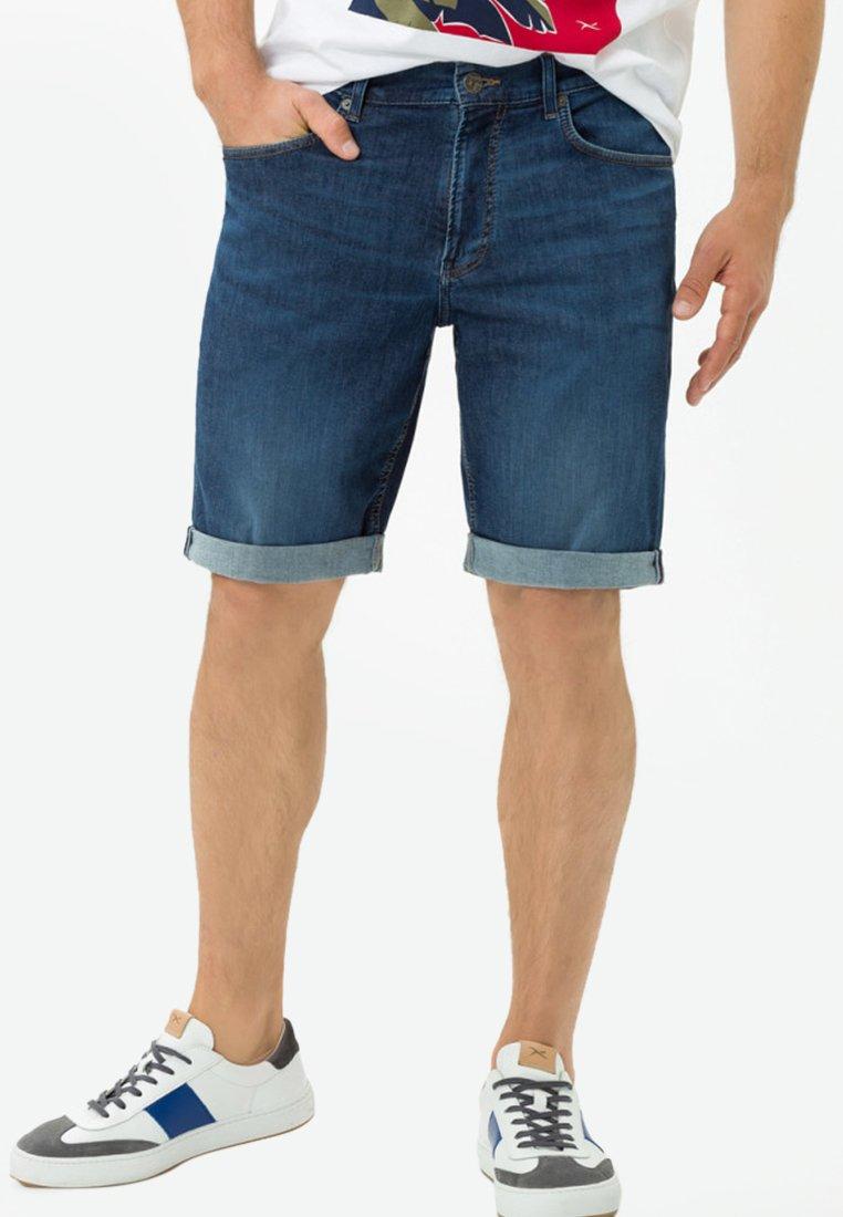 BRAX - STYLE BUCK - Denim shorts - dark blue