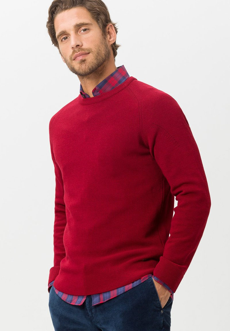 BRAX - STYLE ROY - Strickpullover - red