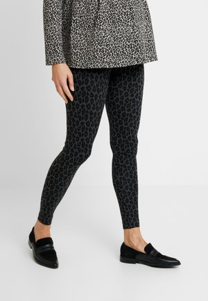 ONCE-ON-NEVER-OFF - Leggings - Trousers - grey/black