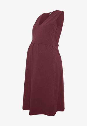 DRESS TILDA NURSING - Jerseyjurk - bordeaux