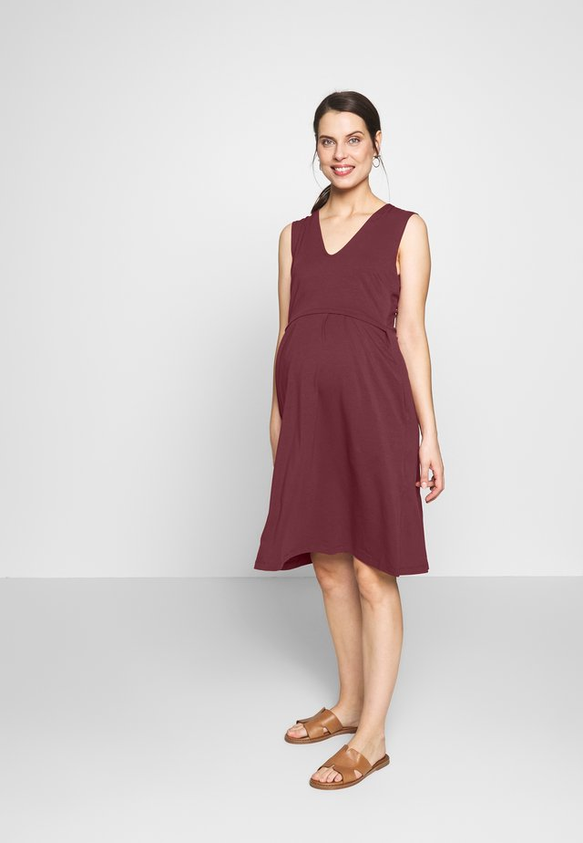 DRESS TILDA NURSING - Jersey dress - bordeaux