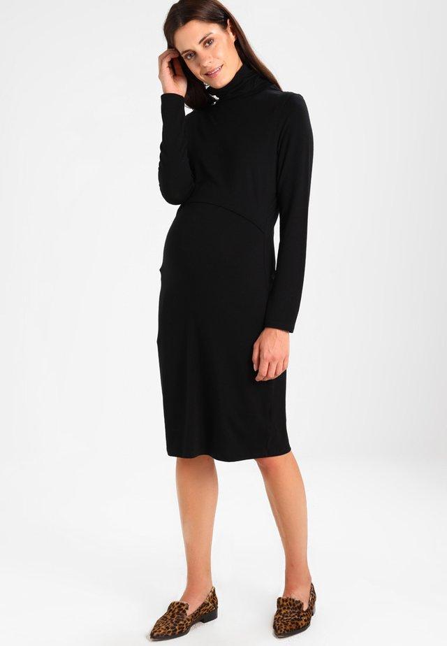 JACKIE POLO NECK DRESS NURSING - Jerseykleid - black