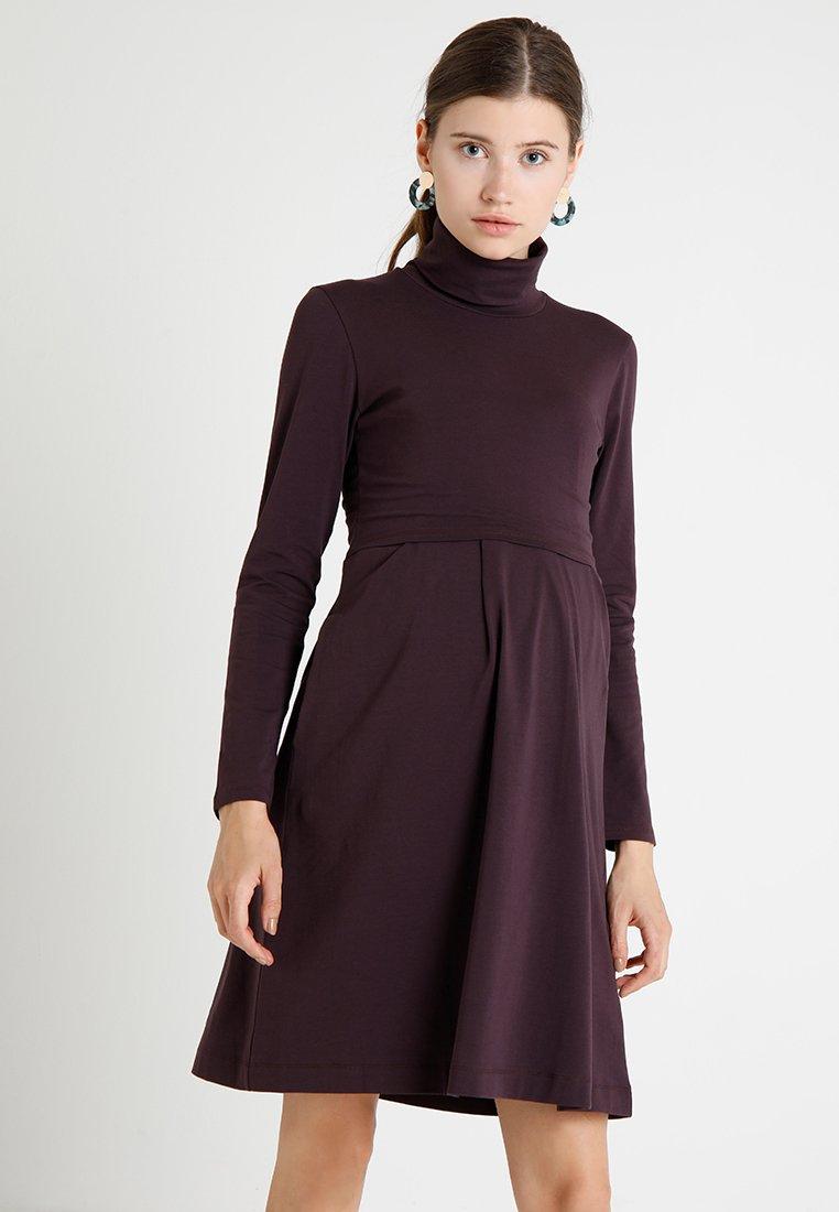 Boob - MIMI POLO NECK DRESS - Jersey dress - cassis