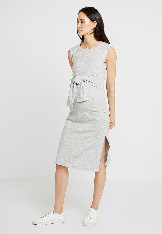 HALEY DRESS - Jerseykleid - grey melange